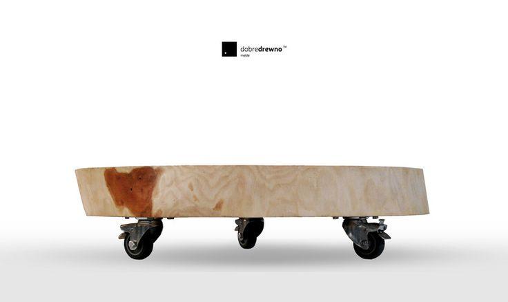 Coffee Tables – A coffee table on wheels – a unique product by dobredrewno on DaWanda