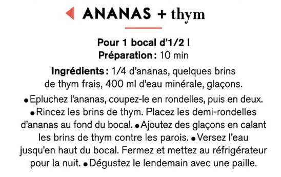 Eau d'été - Ananas + thym