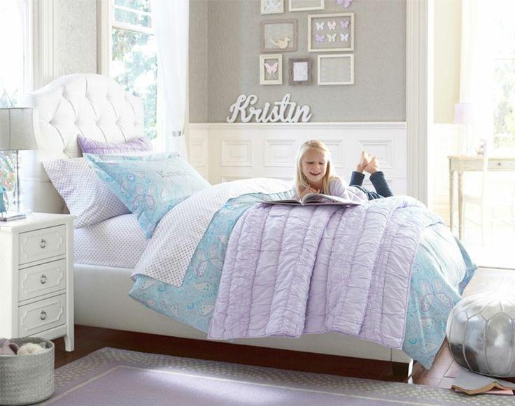 cama grande para cuarto de niña blanco
