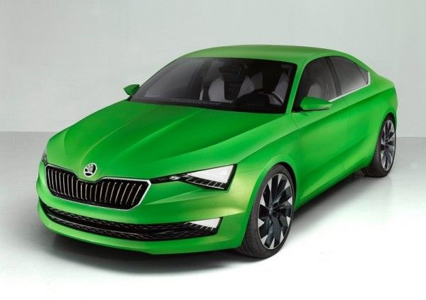 2014 Skoda Vision C Coupe Series Front Angle
