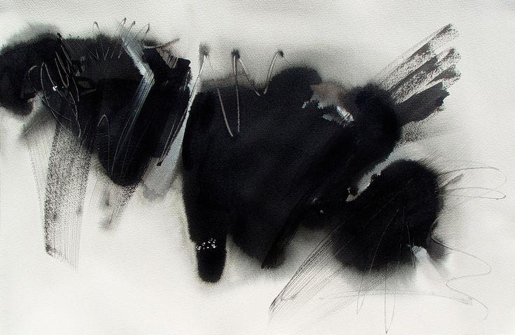 """Silk Road  "" by Bianka Guna Art 2007 Series Acrylic On Paper 15"" x 22"""