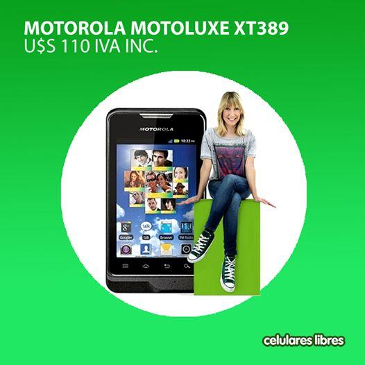 Adquirí un excelente smartphone, a un precio muy bajo. ¿Ya conocés el Motorola Motoluxe XT389? Recordá que además podés pagar con Visa en 10 cuotas sin recargo. ¡Mejor imposible! Encontralo en: http://celulares.com.uy/celulares/motorola/motoluxe-xt389-negro