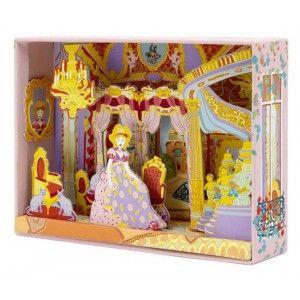 """ΚΑΤΑΣΚΕΥΗ - ΔΗΜΙΟΥΡΓΙΑ ΒΙΤΡΙΝΑΣ """"ΤΟ ΠΑΛΑΤΙ ΤΗΣ ΑΝΑΣΤΑΣΙΑΣ"""" Δημιουργείστε το παλάτι της Πριγκίπισσας Αναστασίας εύκολα και ευχάριστα. Χρησιμοποιείστε το κουτί της χειροτεχνίας, βάψτε τα έτοιμα κολάζ που περιέχονται, κόψτε τα και τοποθετήστε τα σωστά, με σκοπό να δημιουργηθούν τρισδιάστατες μακέτες, όπως έπιπλα, τοίχοι ακόμα και φόντο. Η συσκευασία περιέχει 4 φύλλα για το κολάζ, 1 κόλλα, 6 μαρκαδόρους και οδηγίες βήμα προς βήμα για την διευκόλυνση του παιδιού."""
