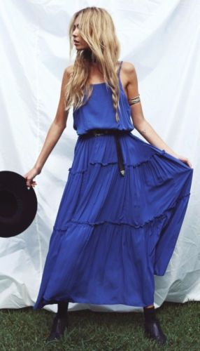 Free-People-Valerie-Maxi-Dress-Tiered-Marine-Blue-Sleeveless-Peasant-OB498291
