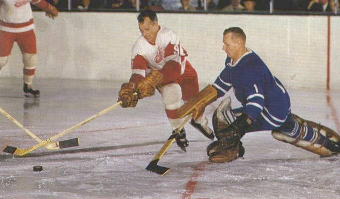 Mr Hockey and the brave maskless ones - Johnny Bower here