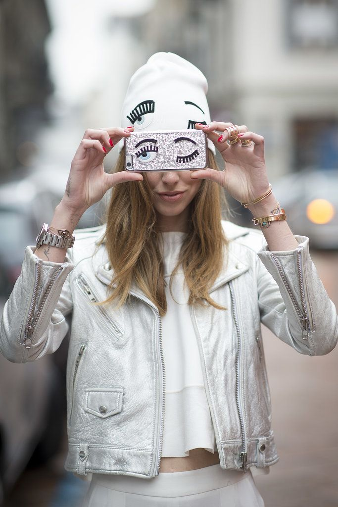 Chiara Ferragni models her own collection at MFW.