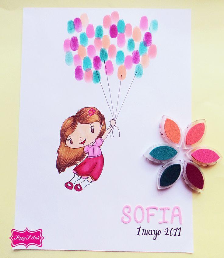 Recuerdo de cumpleaños o de fiesta <3 http://poppypink.com.mx/album-de-firmas-con-arbol-de-huellas-para-boda.html
