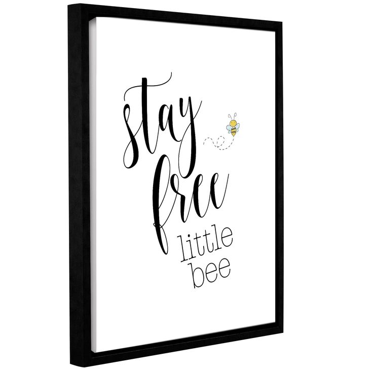 ArtWall Tara Moss's 'Stay Free Little Bee' Gallery Wrapped Floater-framed Canvas