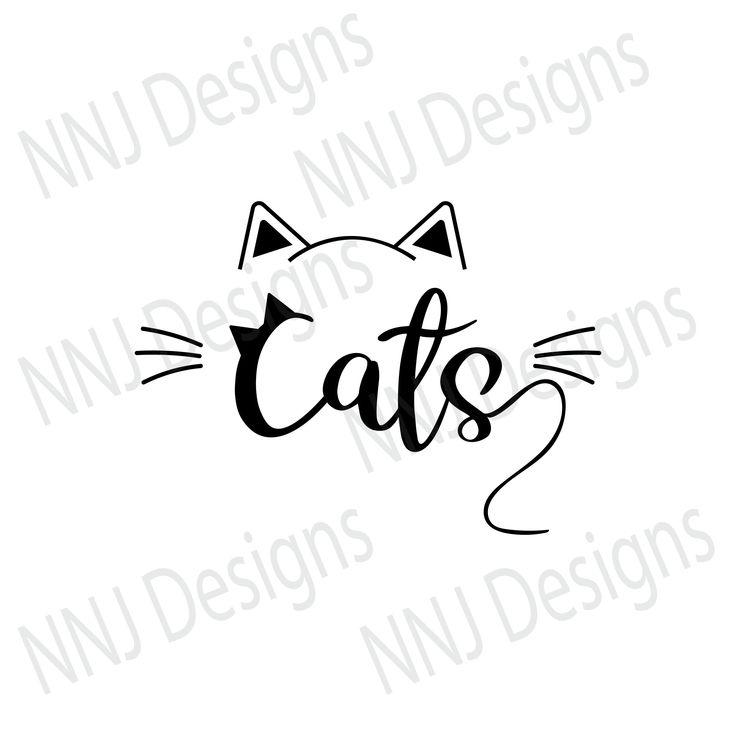 Download Love Cats SVG Pets Lover Cute Clipart Silhouette Cricut ...