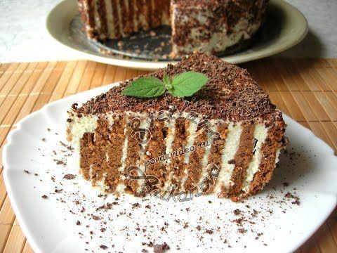 Полосатый Торт БЕЗ ВЫПЕЧКИ Вкусный и Красивый десерт Всего за 20 минут - YouTube