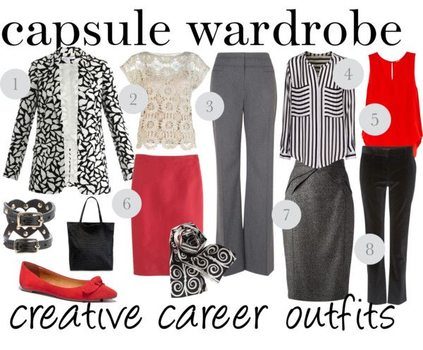 For mamas who work in creative offices (or just wish they do)! #capsulewardrobe [http://www.franticbutfabulous.com/2013/11/22/capsule-wardrobe-creative-career-clothes/]