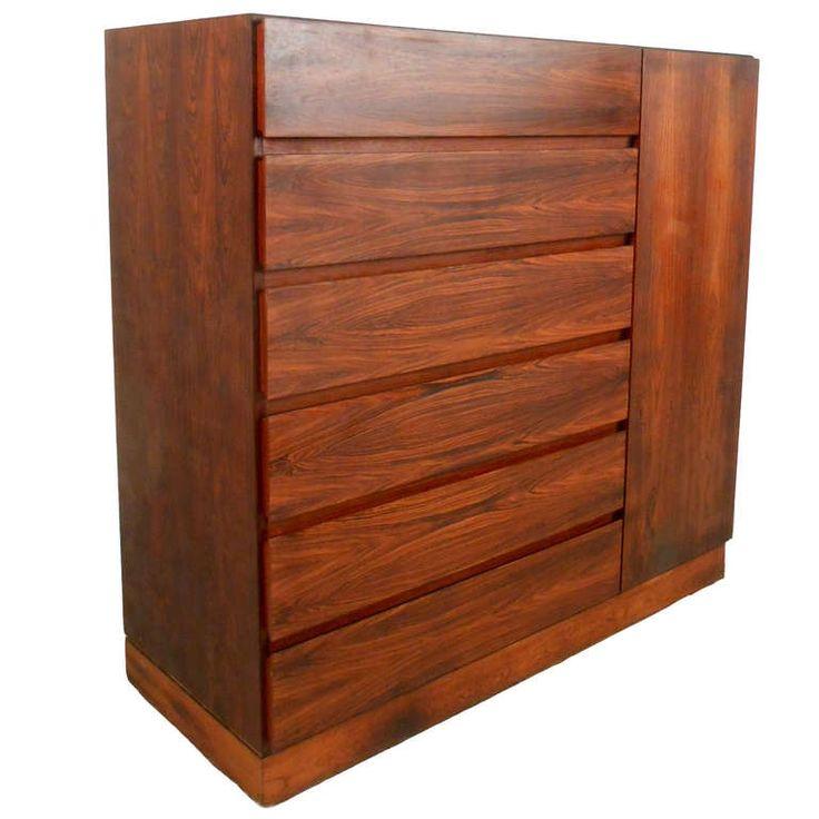 Exquisite Danish Rosewood Hi Boy Dresser