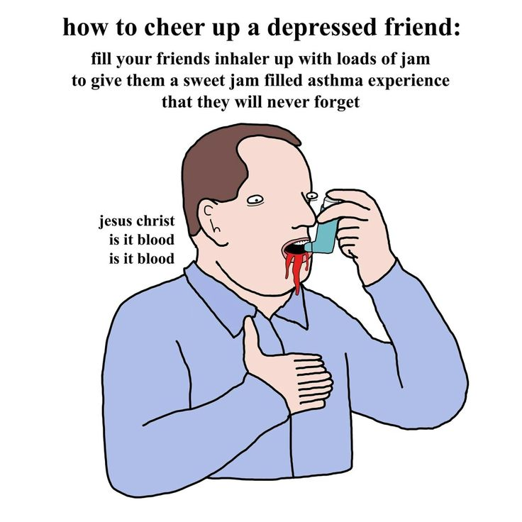 how to cheer up a depressed friend. love from your friend Chris (Simpsons artist) xox