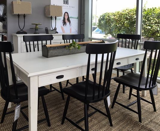 Farmhouse Table And Spindle Chairs By Joanna Gaines For Magnolia Home At Toms Price Furniture