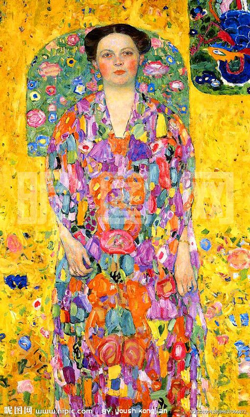 Eugenia Primavesi by Gustav Klimt, 1913/14. Oil on canvas, 140 x 84 cm. Private collection