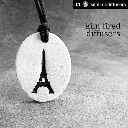 Eiffel Tower diffuser necklace with adjustable cord (choose from 14 different cord colors) My kiln fired clay diffusers are hand crafted by me entirely. They are waterproof and oil absorbent on both the front and back. #eiffeltower #france #french #paris #pariseiffeltower #diffuserjewelry #diffuser #diffusernecklace #diffusermurah #jewelrydiffuser #jewelry #necklaces #necklace #healthyliving #healingart #healing #healingjewelry #aromatherapy#handmade #essentialoil #essentialoils