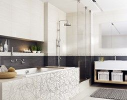 antonella-anton - Duża łazienka w domu jednorodzinnym z oknem, styl skandynawski - zdjęcie od Ceramika Paradyż