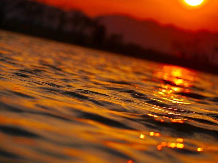 surface of lake