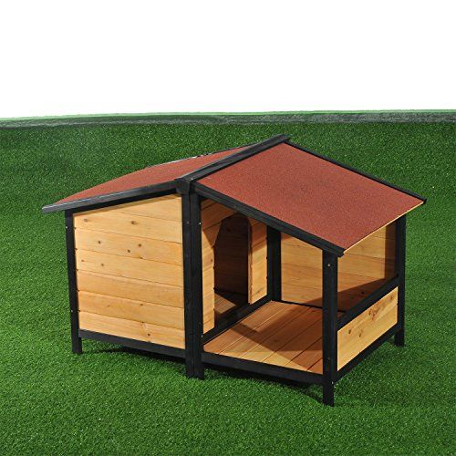 Pawhut Elevated Dog House with Opening Roof | Dog Supplies - Warning: Save up to 87% on Dog Supplies and Dog Accessories at Our Online Pet Supply Shop