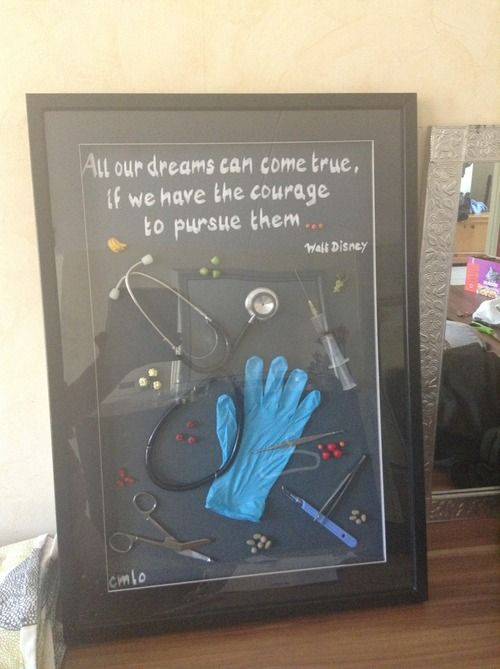 Nursing School Shadow Box definitely making this when I graduate !