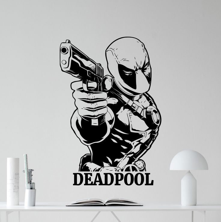 Best Deadpool Images On Pinterest Deadpool Decals And Superhero - Superhero wall decals for kids roomssuperhero wall decal etsy