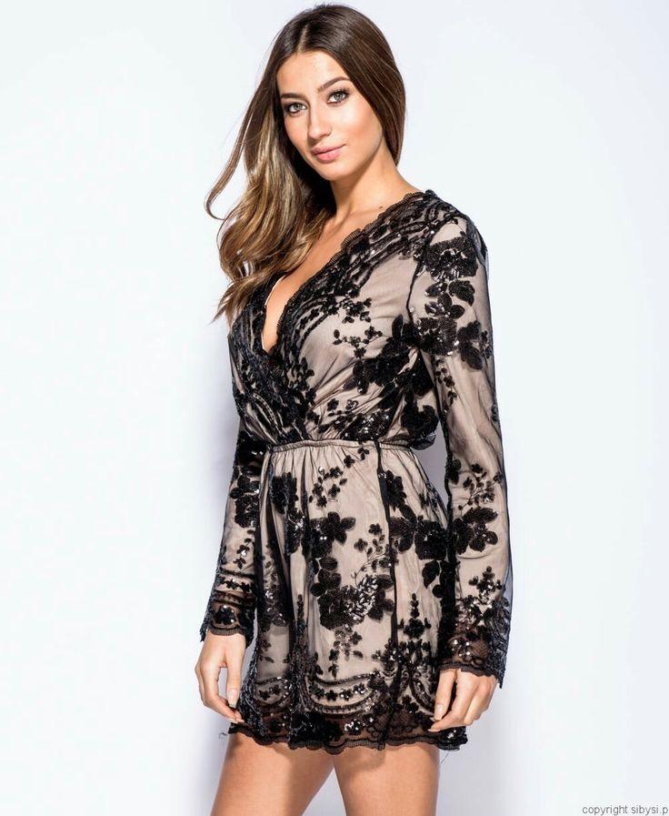Paris -cekinowy kombinezon #sequinplaysuit #sequins #partydress