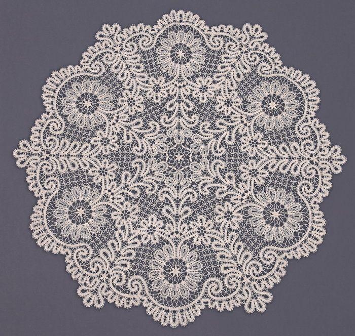 Скатерть | Снежинка: Вологодское кружево