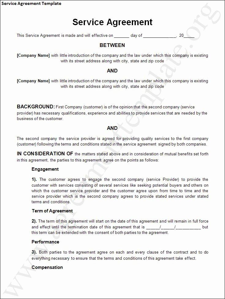 It Support Contract Template Beautiful 50 Professional Service Agreement Templates Co Service Agreement Templates Contract Template Service Contract Template