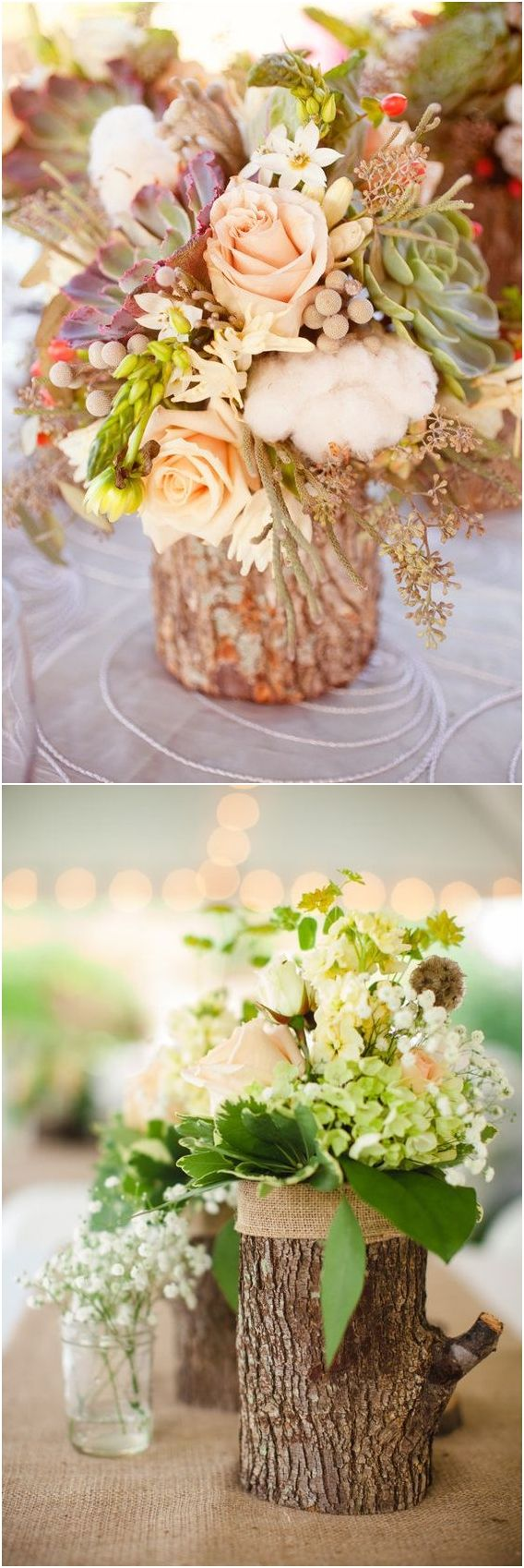 100 Fab Country Rustic Wedding Ideas with Tree Stump  #rusticwedding #wedding #weddingideas #weddinginspiration