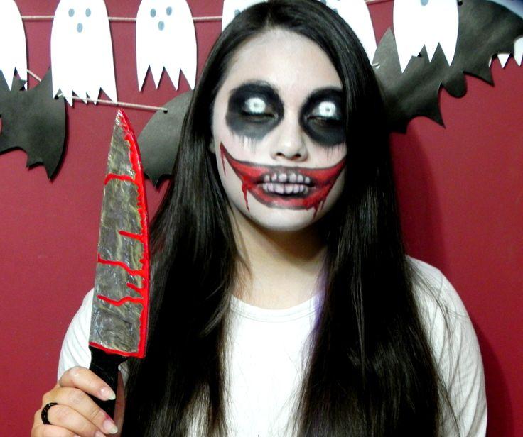 maquillaje jeff the killer cuchillo handmade