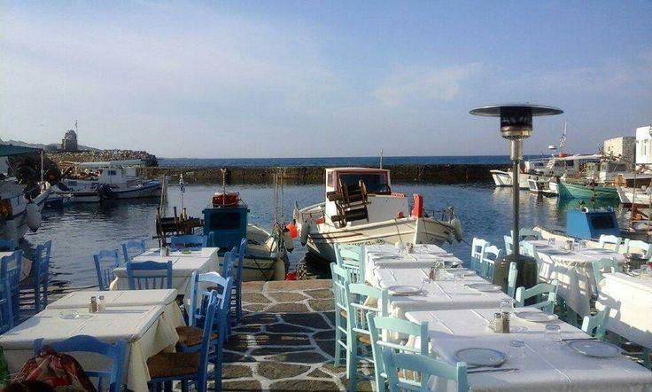 De haven van Naoussa