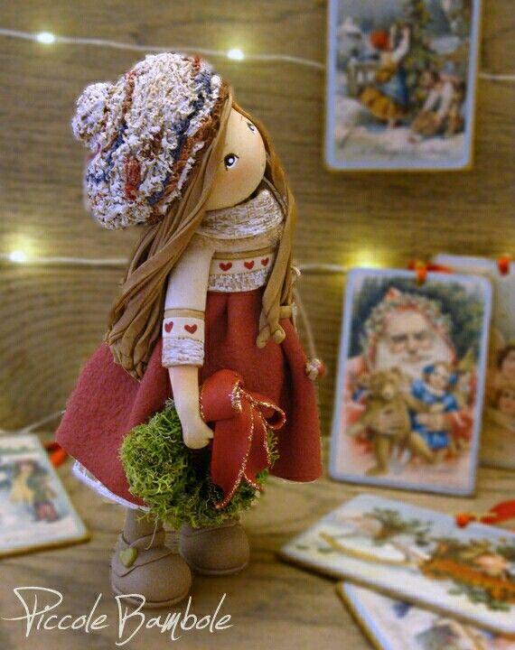 PiccoleBambole: Marry Christmas Doll cold porcelain