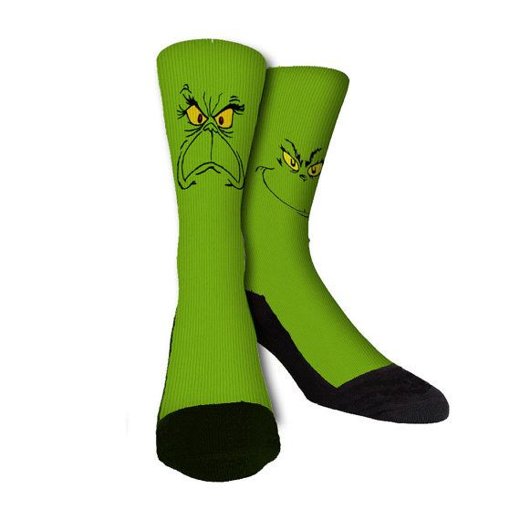 Grinch Socks | Community Post: 12 Wacky Socks For The Christmas Enthusiast