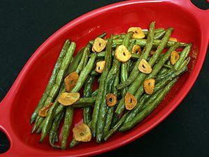 Christmas Dinner for Two: Roasted Green Beans