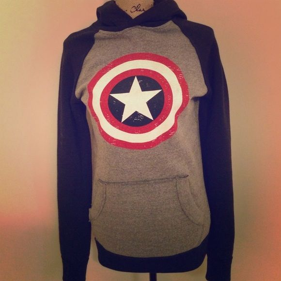 I just discovered this while shopping on Poshmark: Captain America hoodie. Check it out! Price: $25 Size: S, listed by elena_duran