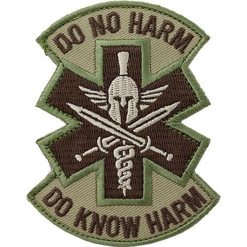 Do No Harm Spartan Tactical Medic MultiCam (OCP) Patch    Description:Wear your Mil-Spec Monkey patches in the field or just for fun. The hook-and-loop ba...