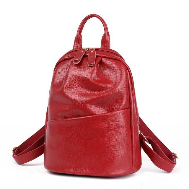 suutoop women backpack leather school students bags for teenagers girls fashion rucksacks mochilas new style red black