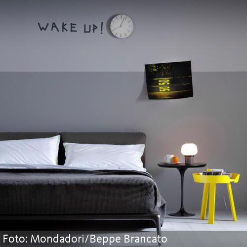 Cleanes Schlafzimmer In Grautnen Mit Neonakzenten Interiors Inside Ideas Interiors design about Everything [magnanprojects.com]