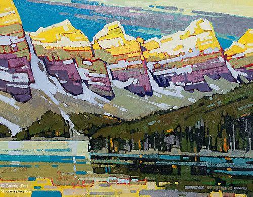 Cameron Bird, 'Light Show at Moraine', 22'' x 28'' | Galerie d'art - Au P'tit Bonheur - Art Gallery