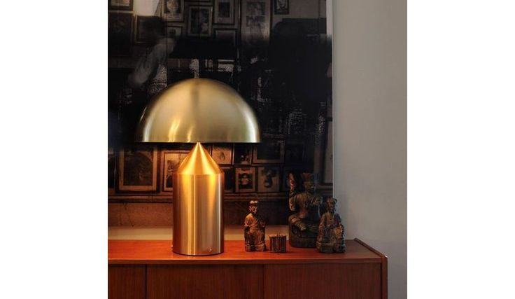 Oluce - Atollo 233 - Lampe de table - aluminium doré/laqué/avec gradateur/H70 Ø50 cm