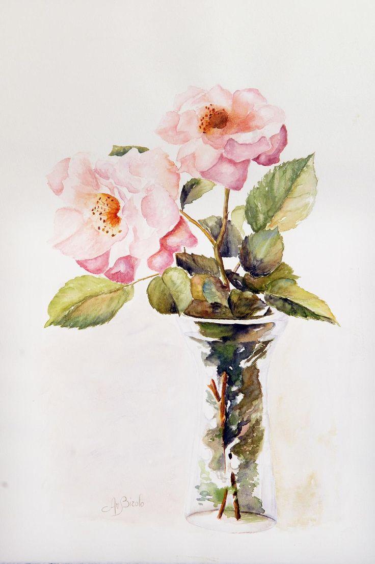 rose watercolor