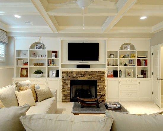 cabinets around fireplace design pictures remodel decor and ideas