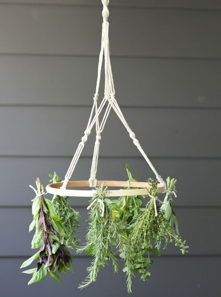 Simple herb drying rack and tips for what to do with all that bounty!