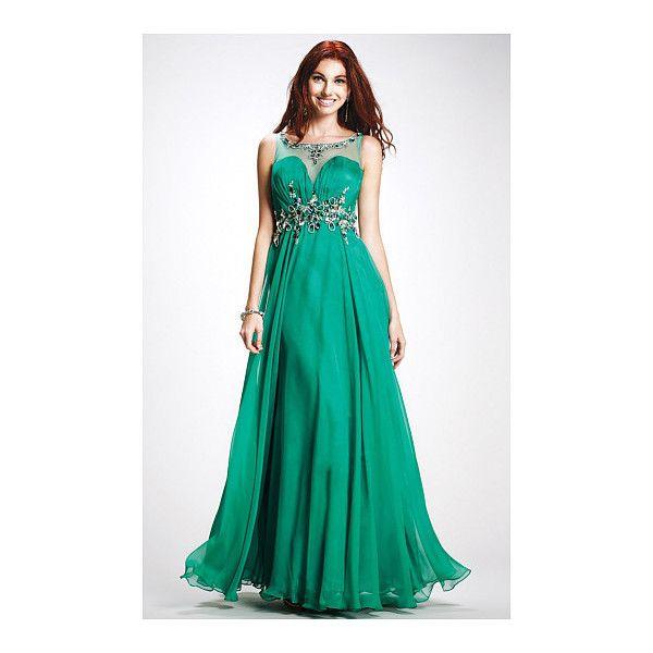 Long Empire A-line Yarn Evening Dresses - by OKDress UK (143,995 KRW) via Polyvore