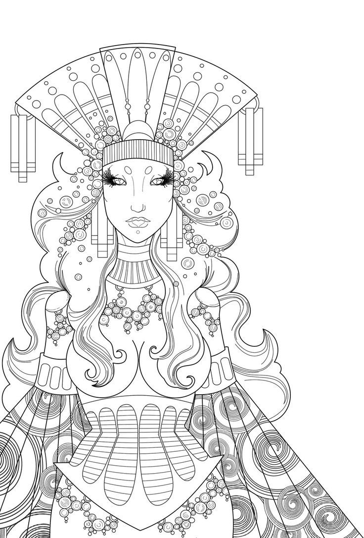 1874 best coloring pages of beautiful women images on pinterest