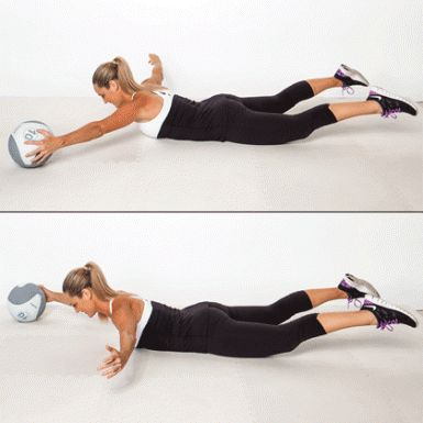 Extension Pass - Medicine Ball Exercises: Burn Fat and Flatten Your Belly - Shape Magazine