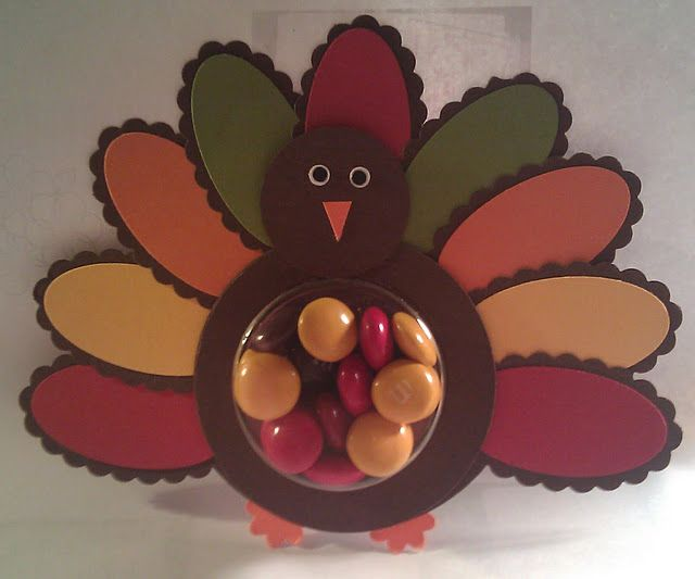 Happy Thanksgiving Turkey Sweet Treat by myflowers - Cards and Paper Crafts at Splitcoaststampers