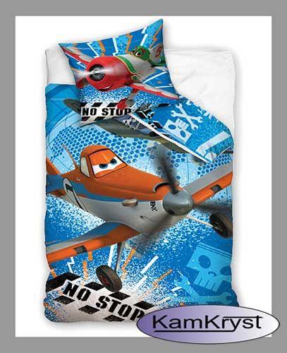 Kolejna propozycja dla najmłodszych sklepu z pościelą dziecięcą i nie tylko KamKryst - pościel dla dzieci Samoloty 160x200 cm Carbotex.