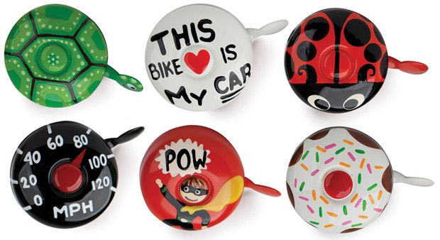 hand painted bike bells by Annie Legroulx/Dringdring