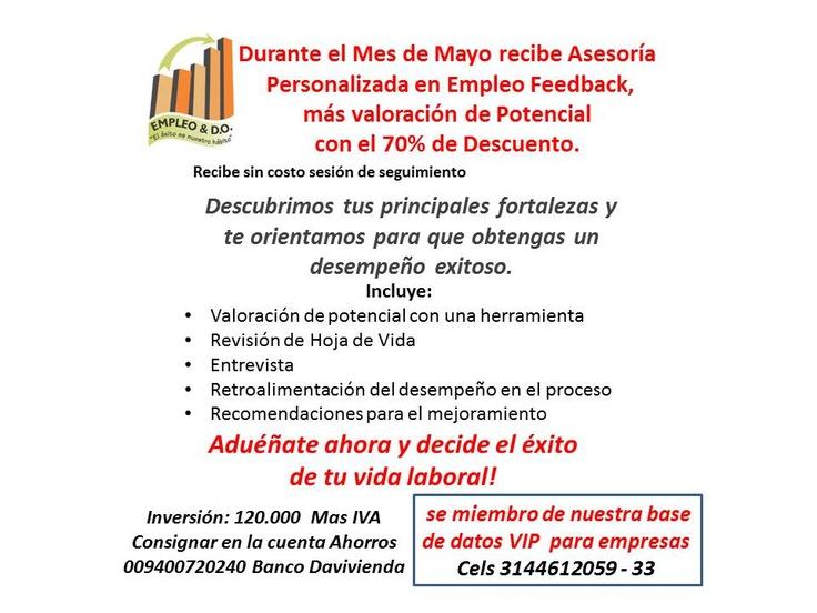 Buscas asesoria profesional para prepararte a buscar #empleo? contactanos ealarcon@empleoydo.com